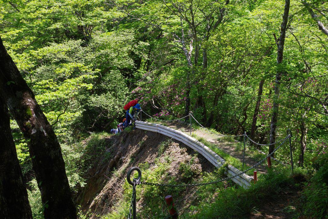 丹沢主稜縦走路のガレ場