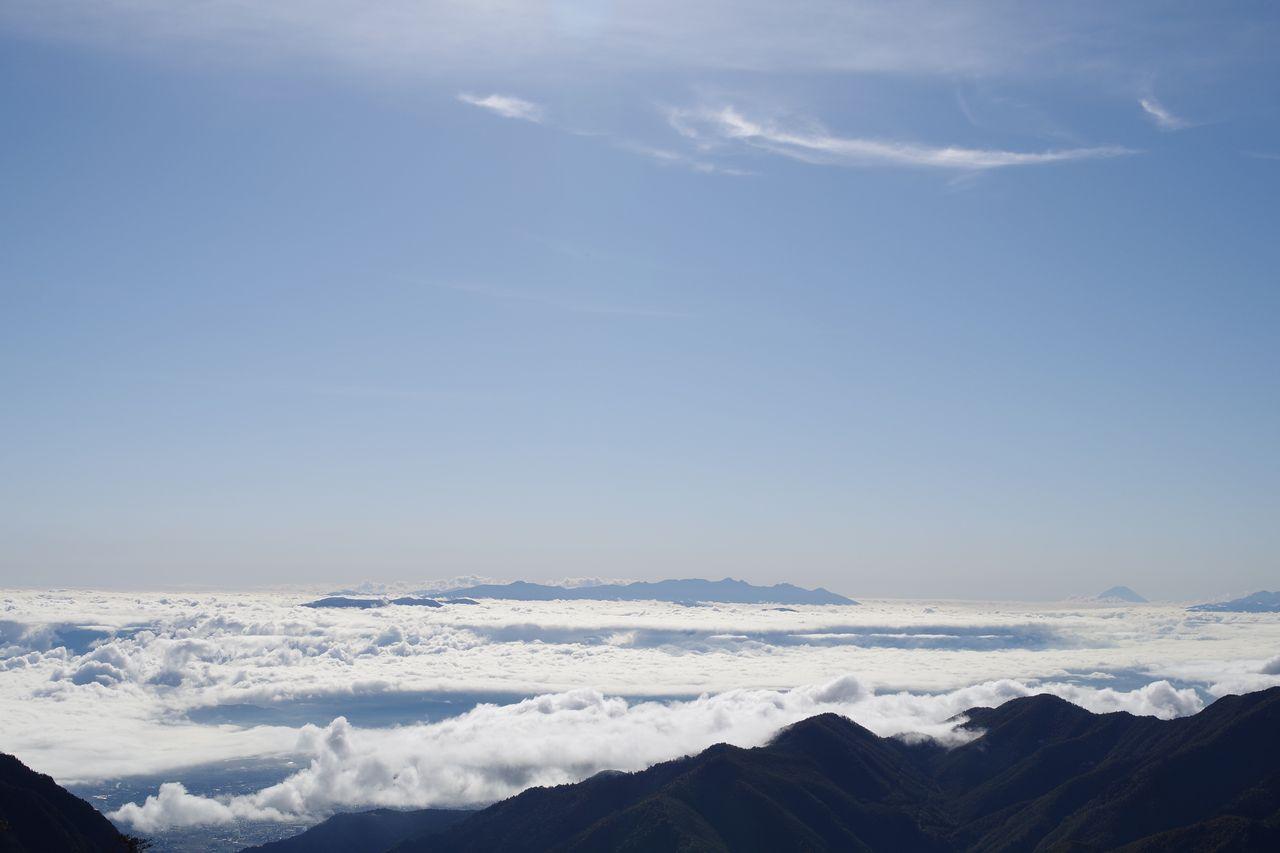合戦尾根から見た八ヶ岳