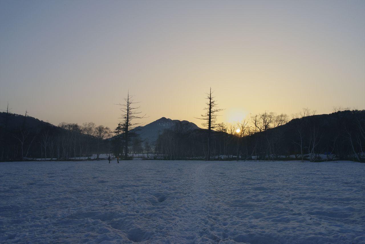 尾瀬ヶ原から見た日の出
