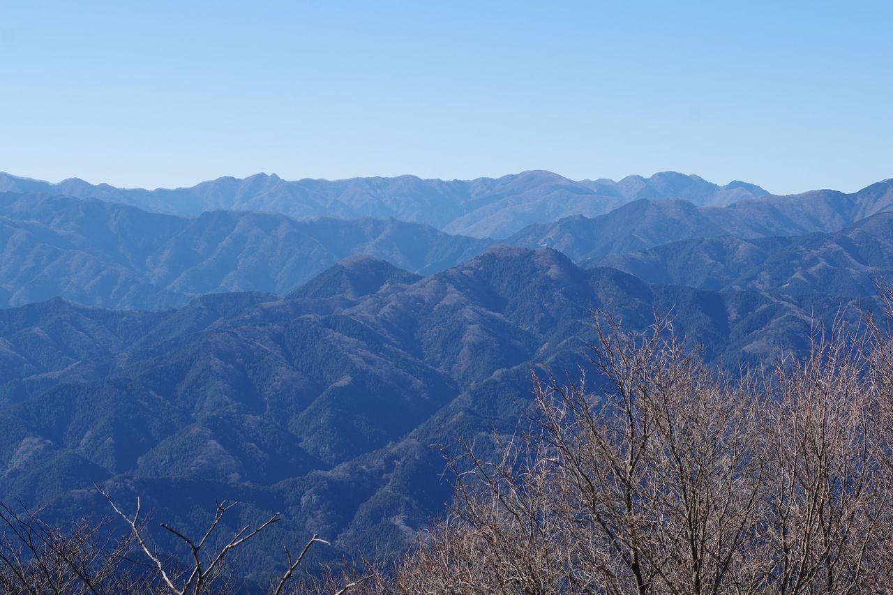 関八州見晴台から見た伊豆ヶ岳