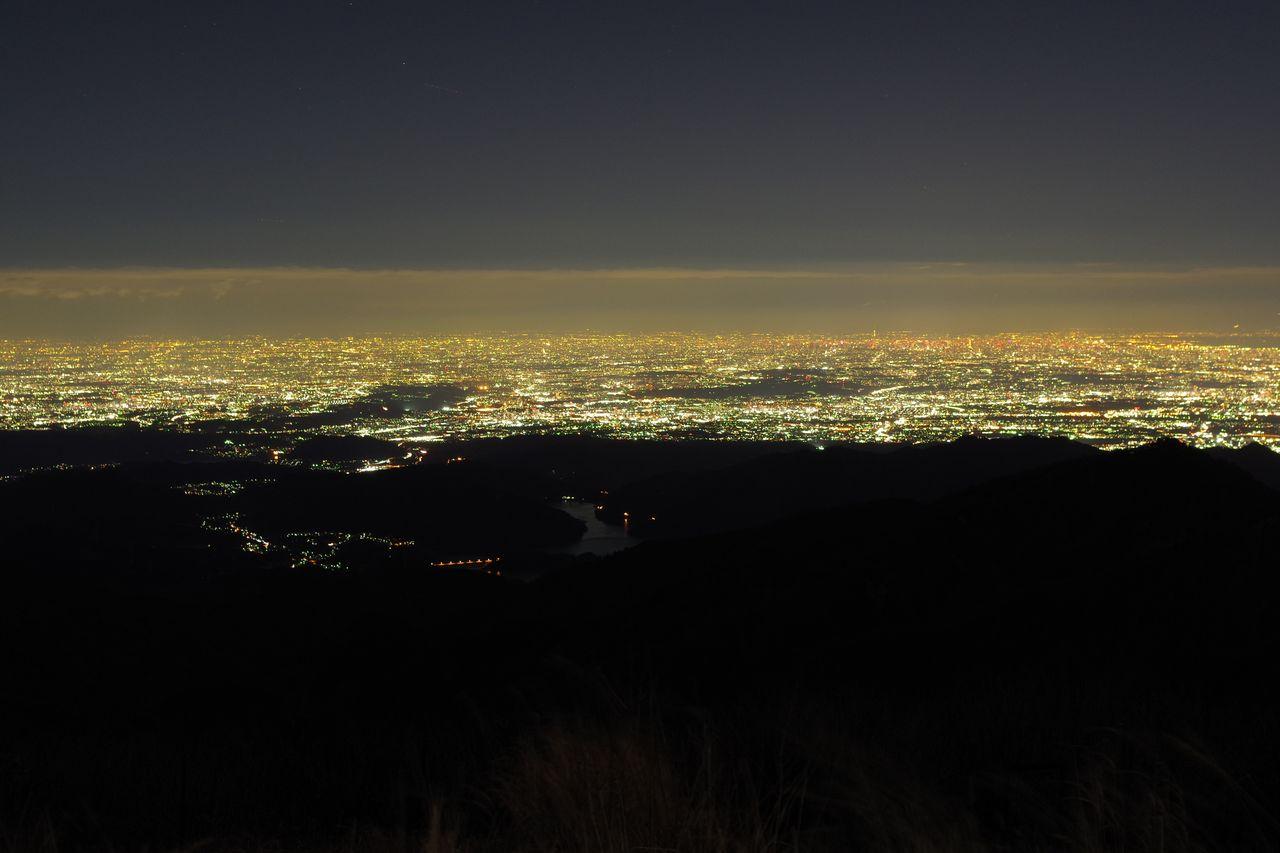 蛭ヶ岳山頂からの夜景