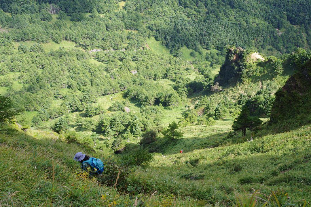 浅間外輪山の草すべり