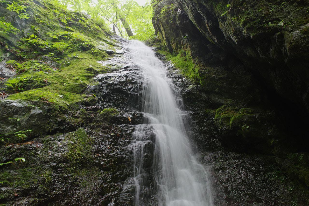 滝壺から見上げた綾広の滝