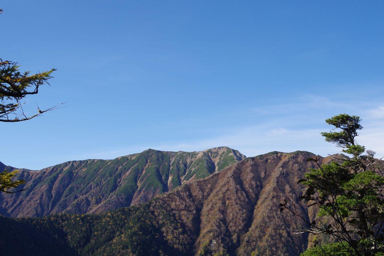 合戦尾根から見た大天井岳