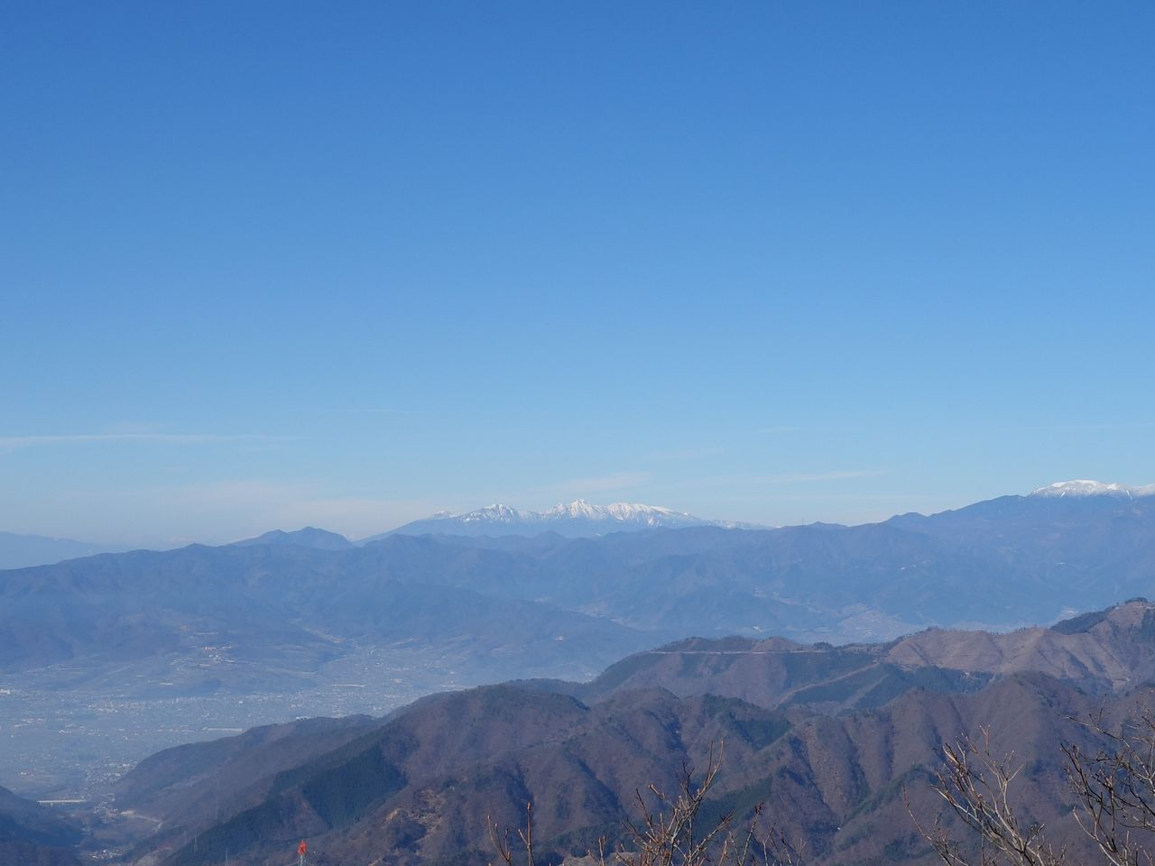 お坊山から見た八ヶ岳連峰