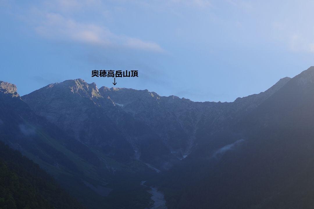 河童橋から見た奥穂高岳