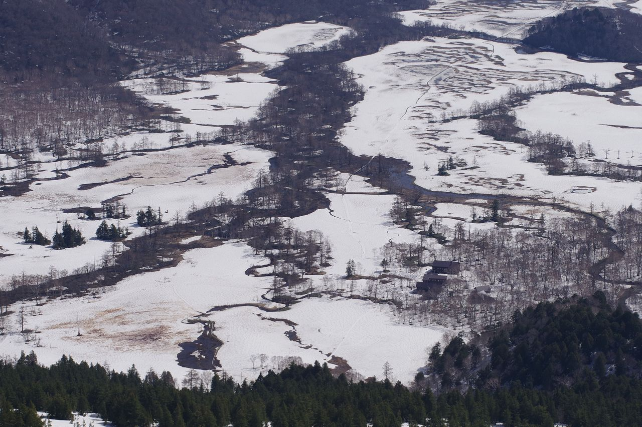 至仏山から見た山の鼻