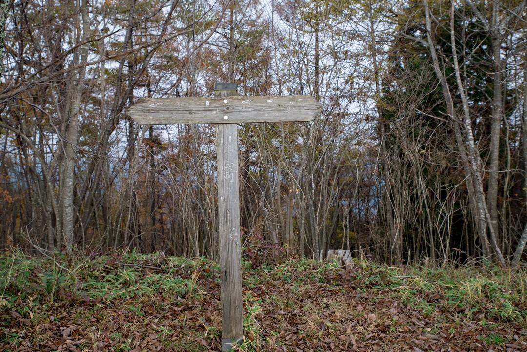 槇寄山の山頂標識