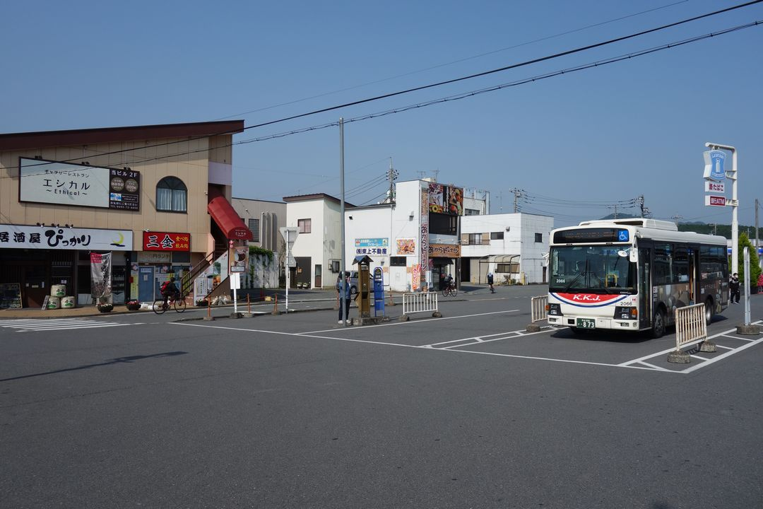 東部線 小川町駅のバスターミナル