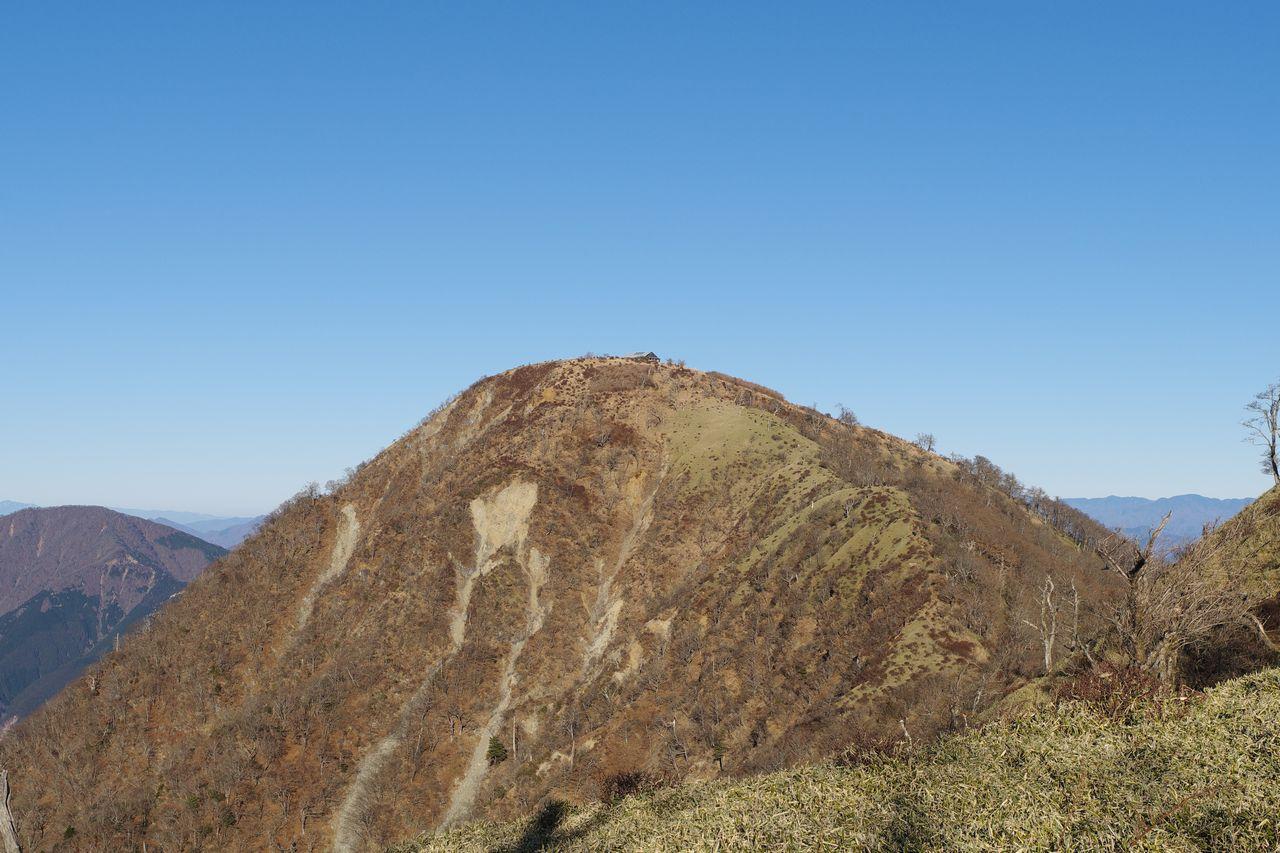 棚沢ノ頭から見た蛭ヶ岳