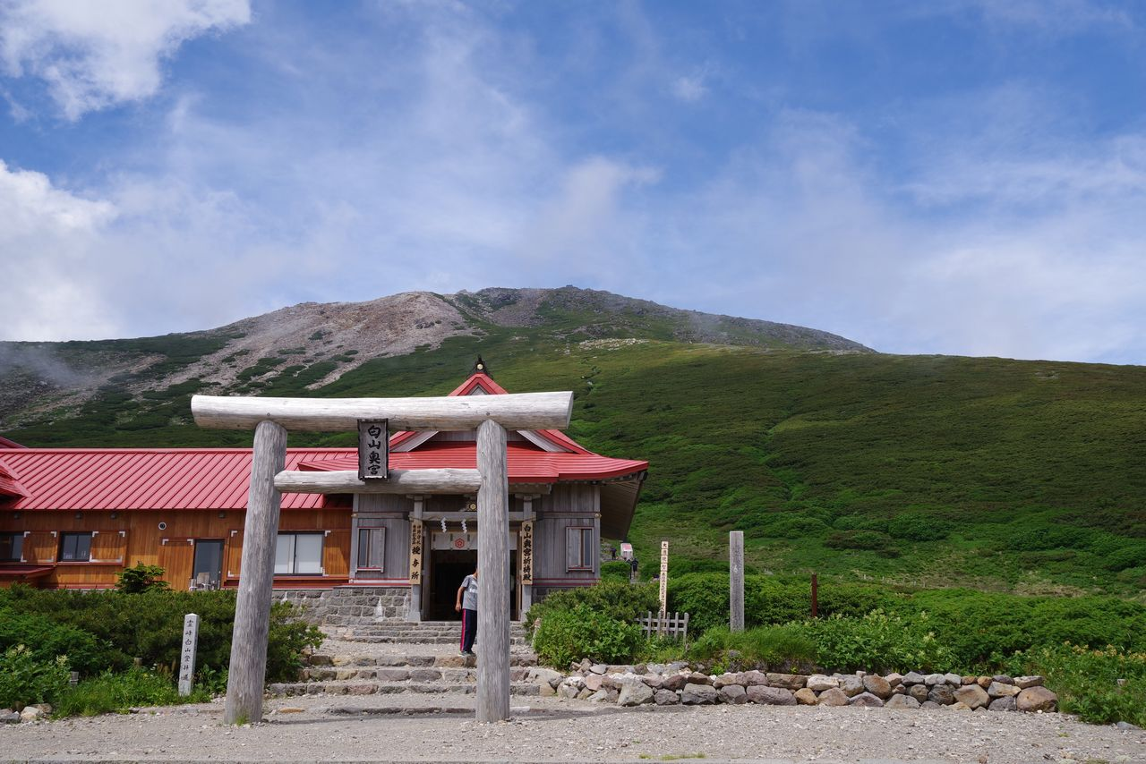 白山奥宮と御前峰