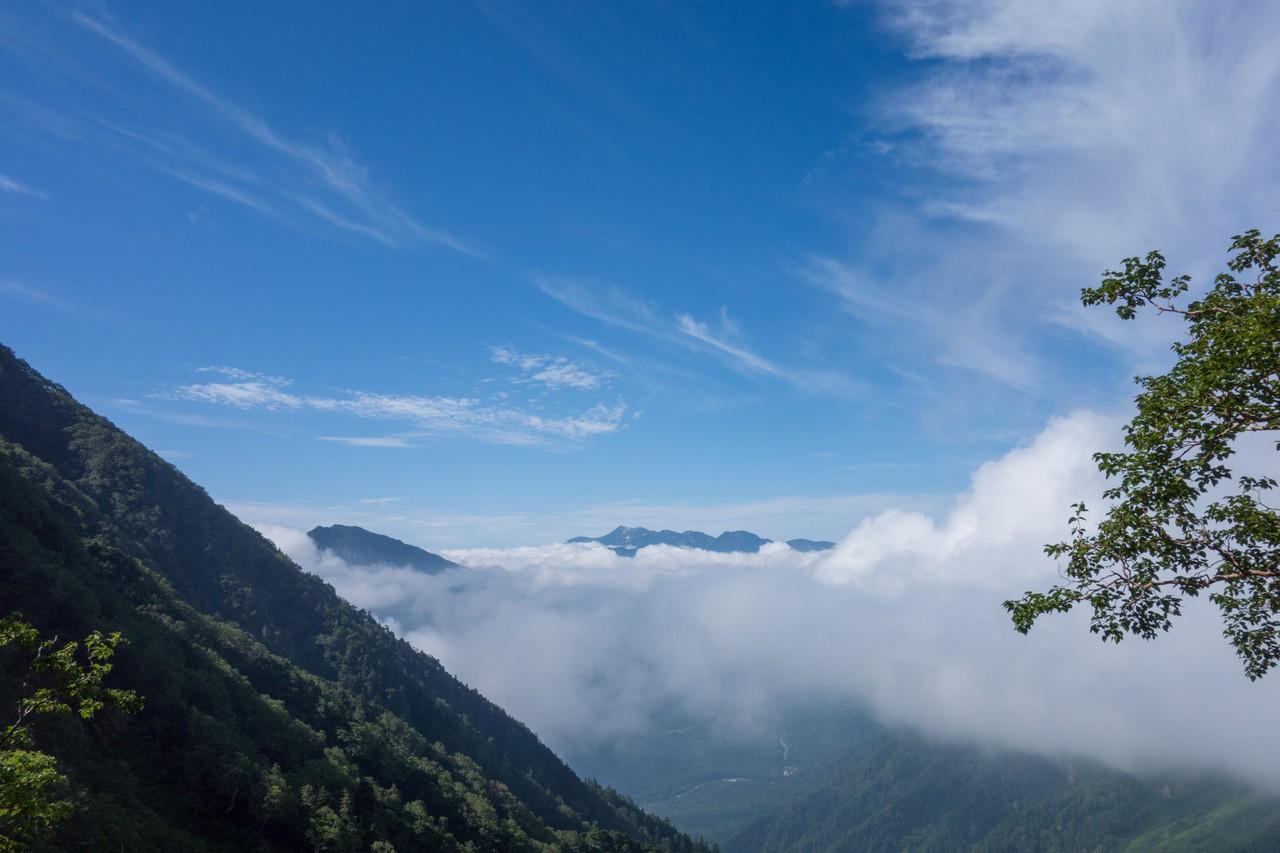重太郎新道から見た雲海と乗鞍岳