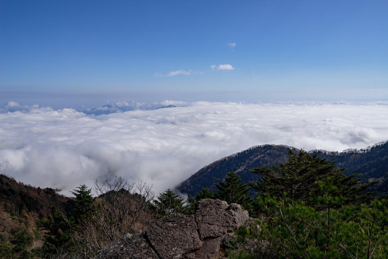 大菩薩嶺の稜線から見た雲海