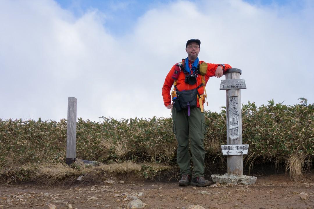 巻機山山頂での記念撮影