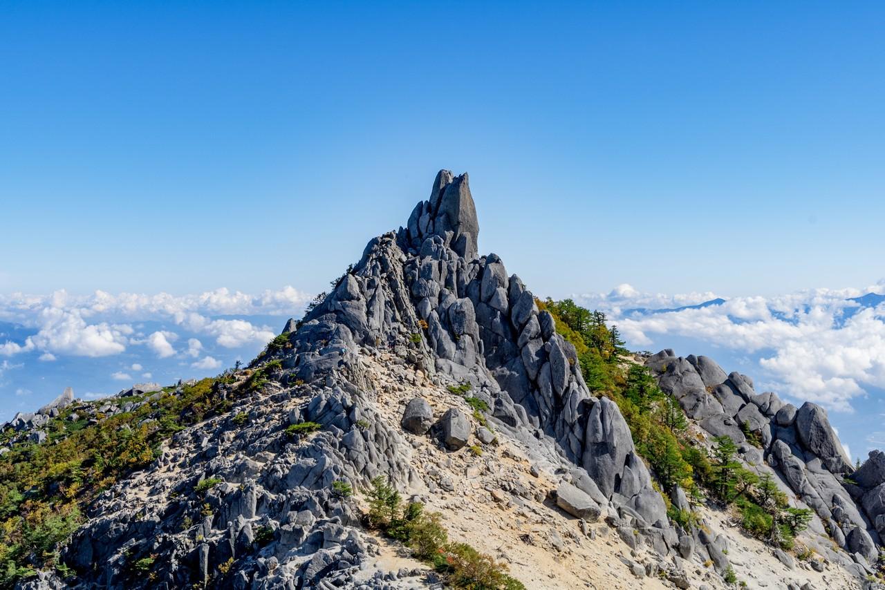 鳳凰山 地蔵岳のオベリスク