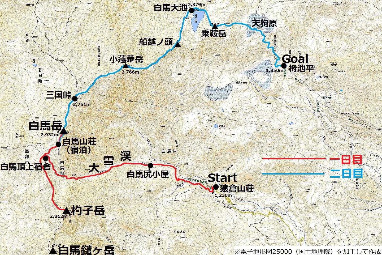 180715白馬岳_map