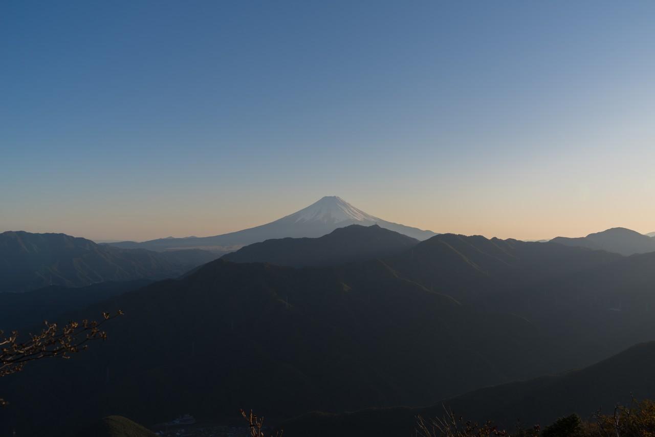 滝子山山頂からの富士展望