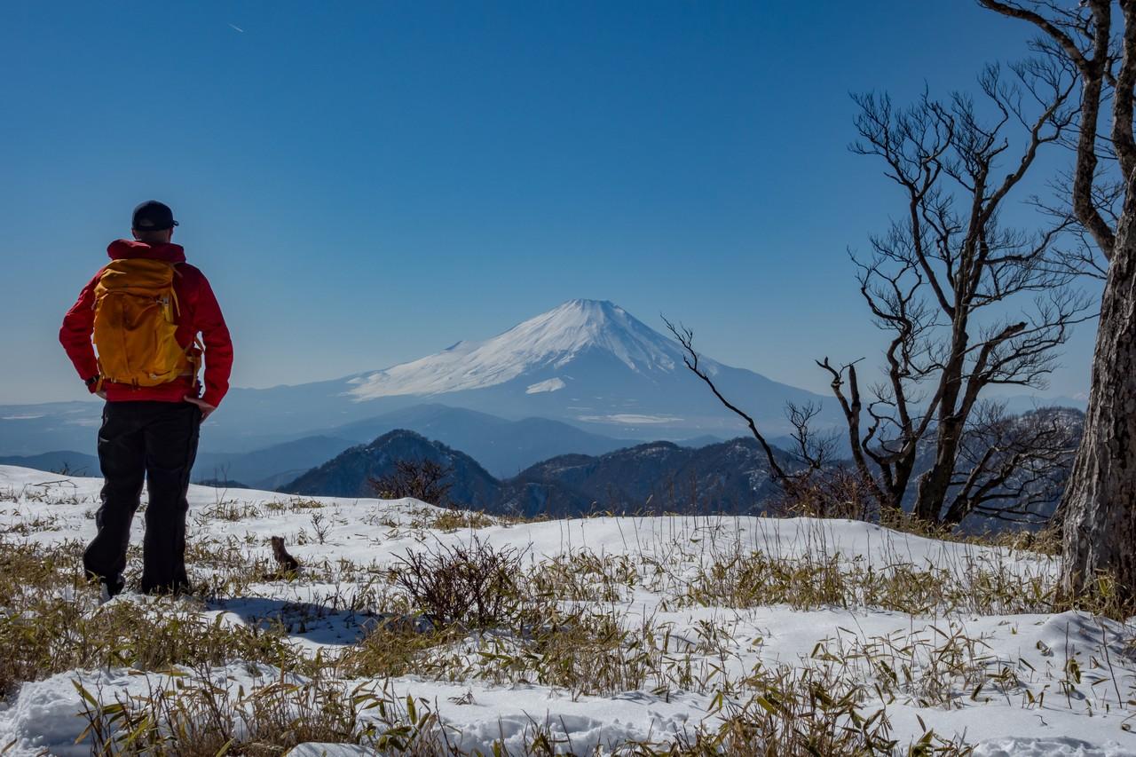 棚沢ノ頭付近から見た富士山