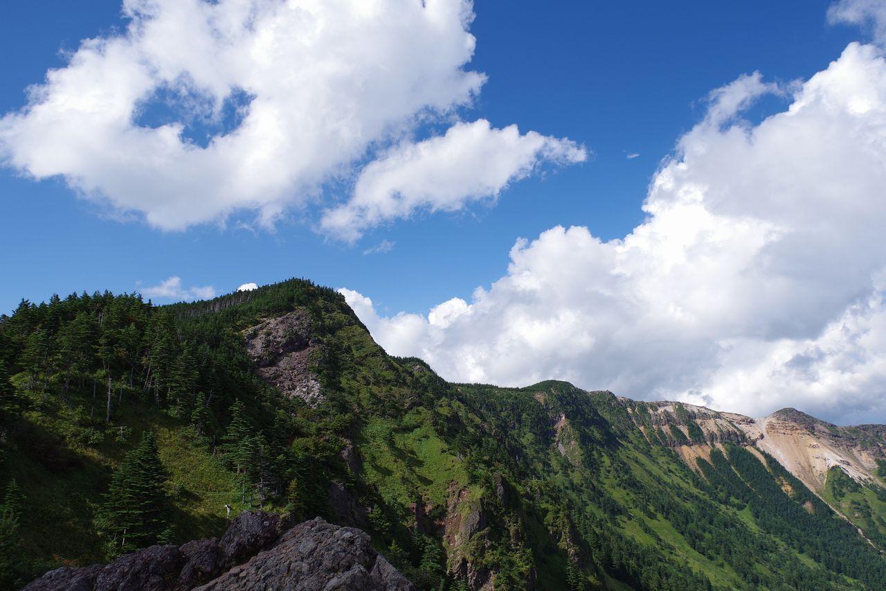 トーミの頭から見た黒斑山