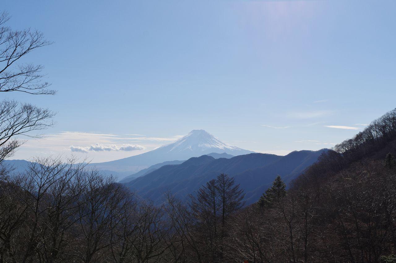 大峠から見た富士山