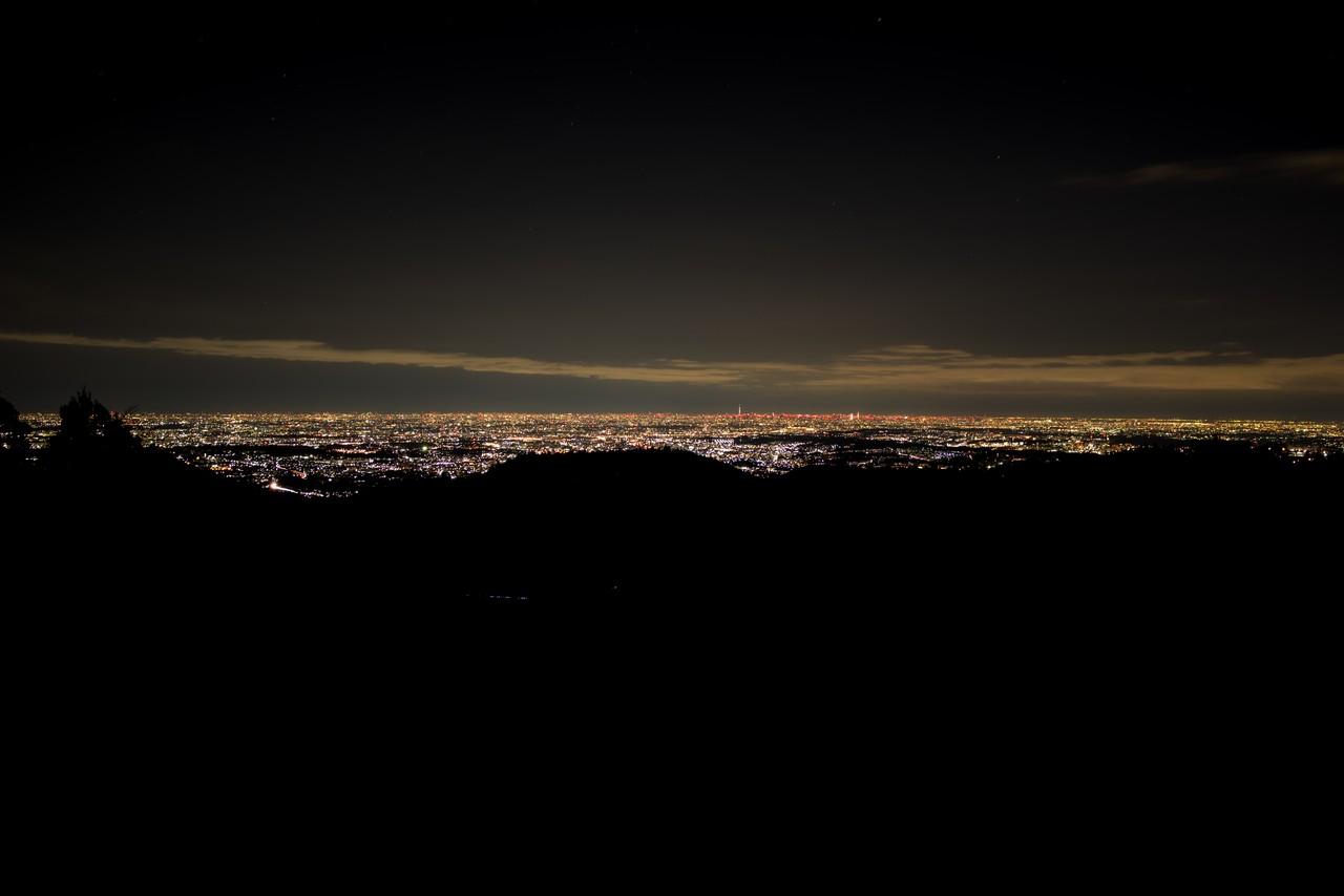 小仏城山の夜景