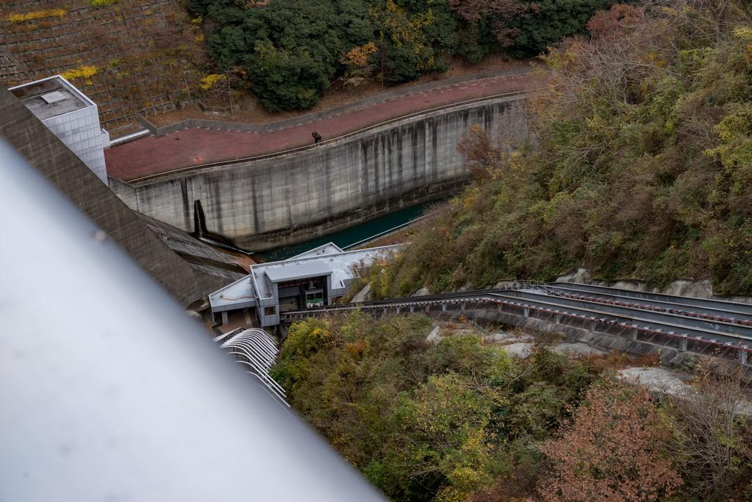 宮ヶ瀬ダムのインクライン