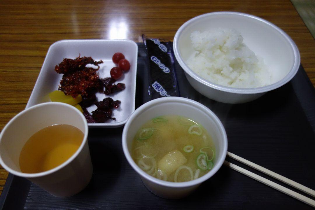 蛭ヶ岳山荘の朝食