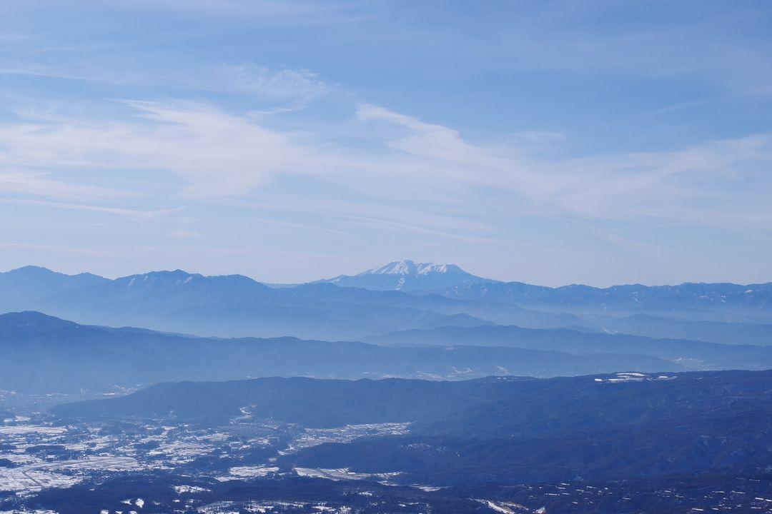 茶臼山の展望台から見た御嶽山