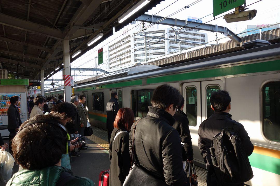 赤羽駅のホーム