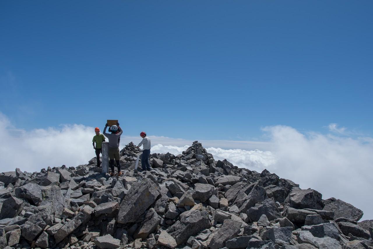前穂高岳山頂の様子
