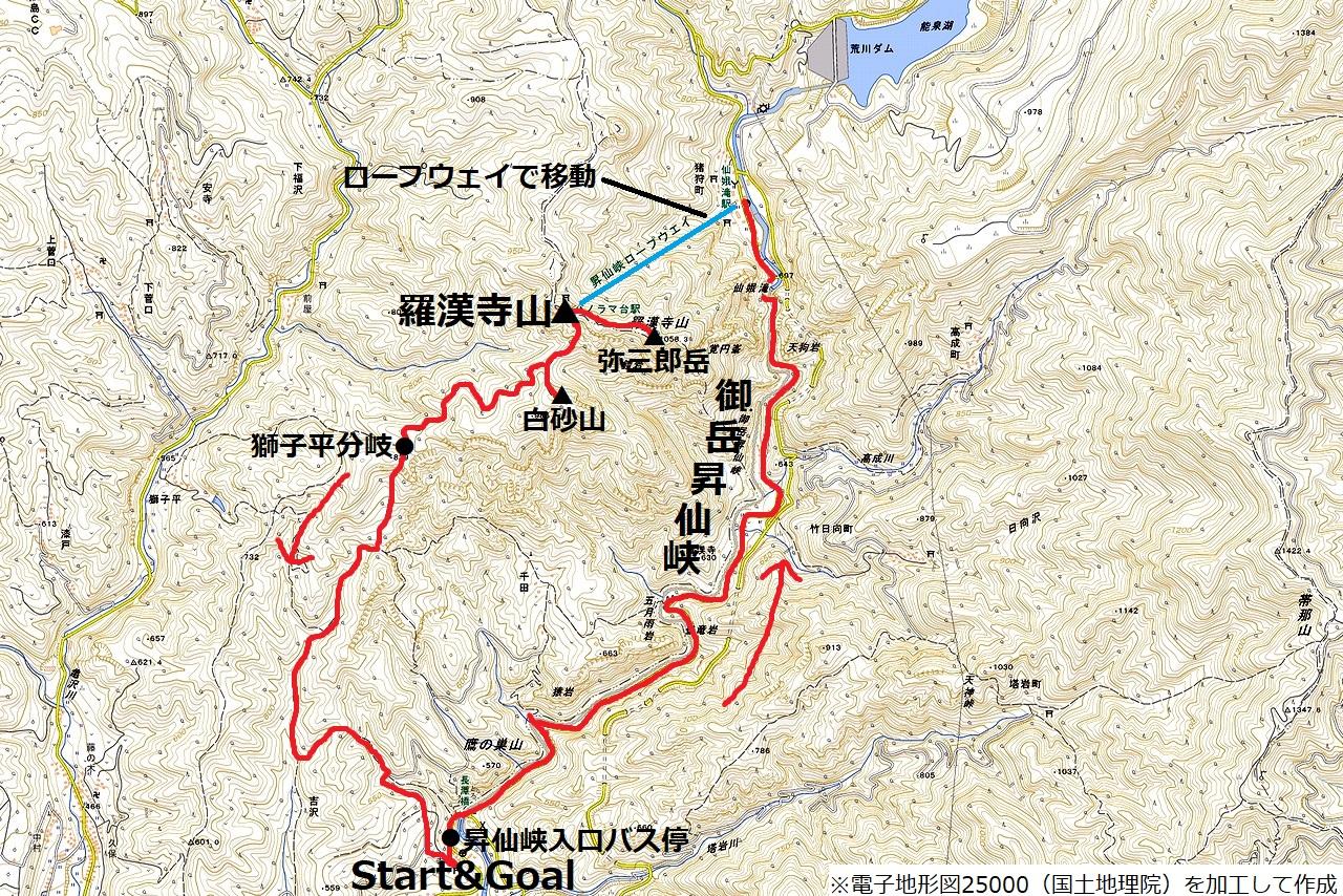 181104昇仙峡_map