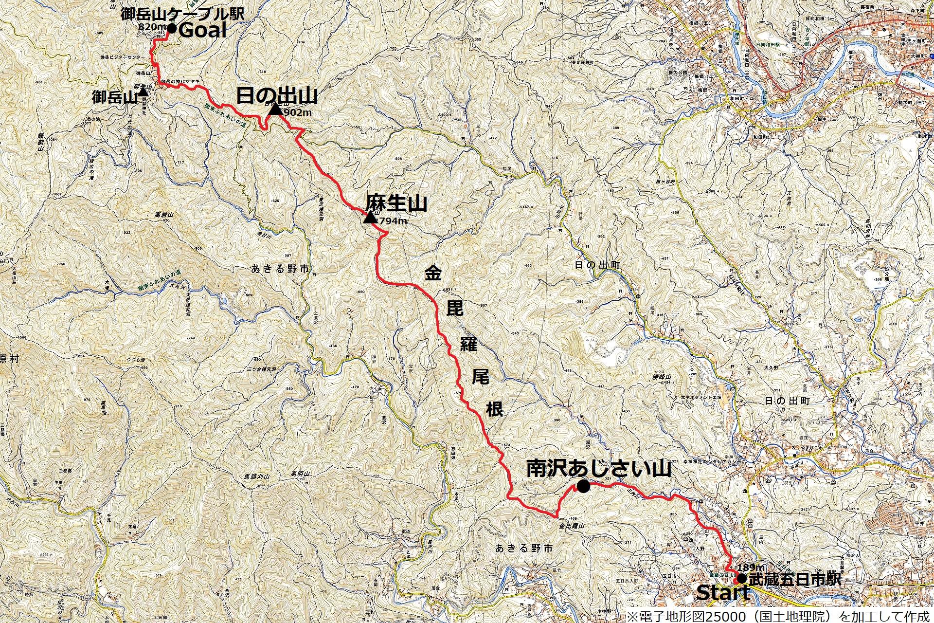 190630南沢あじさい山_map