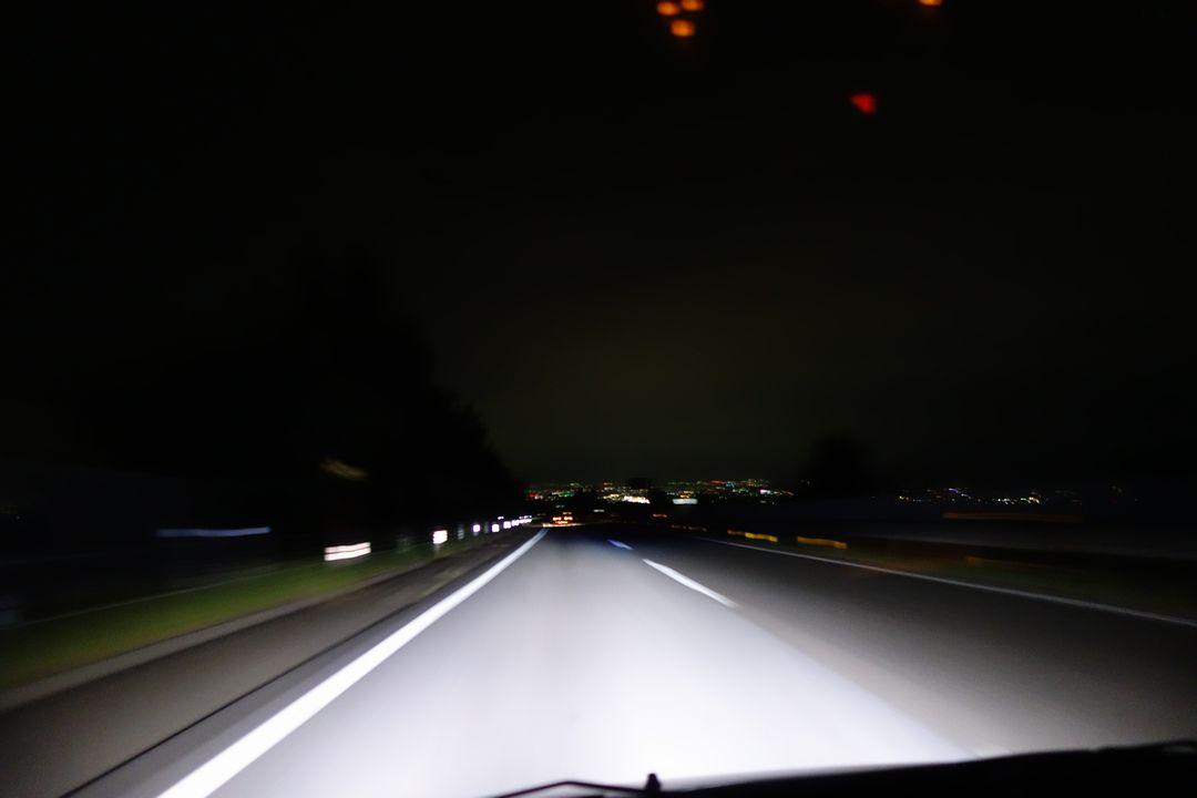早朝の中央自動車道