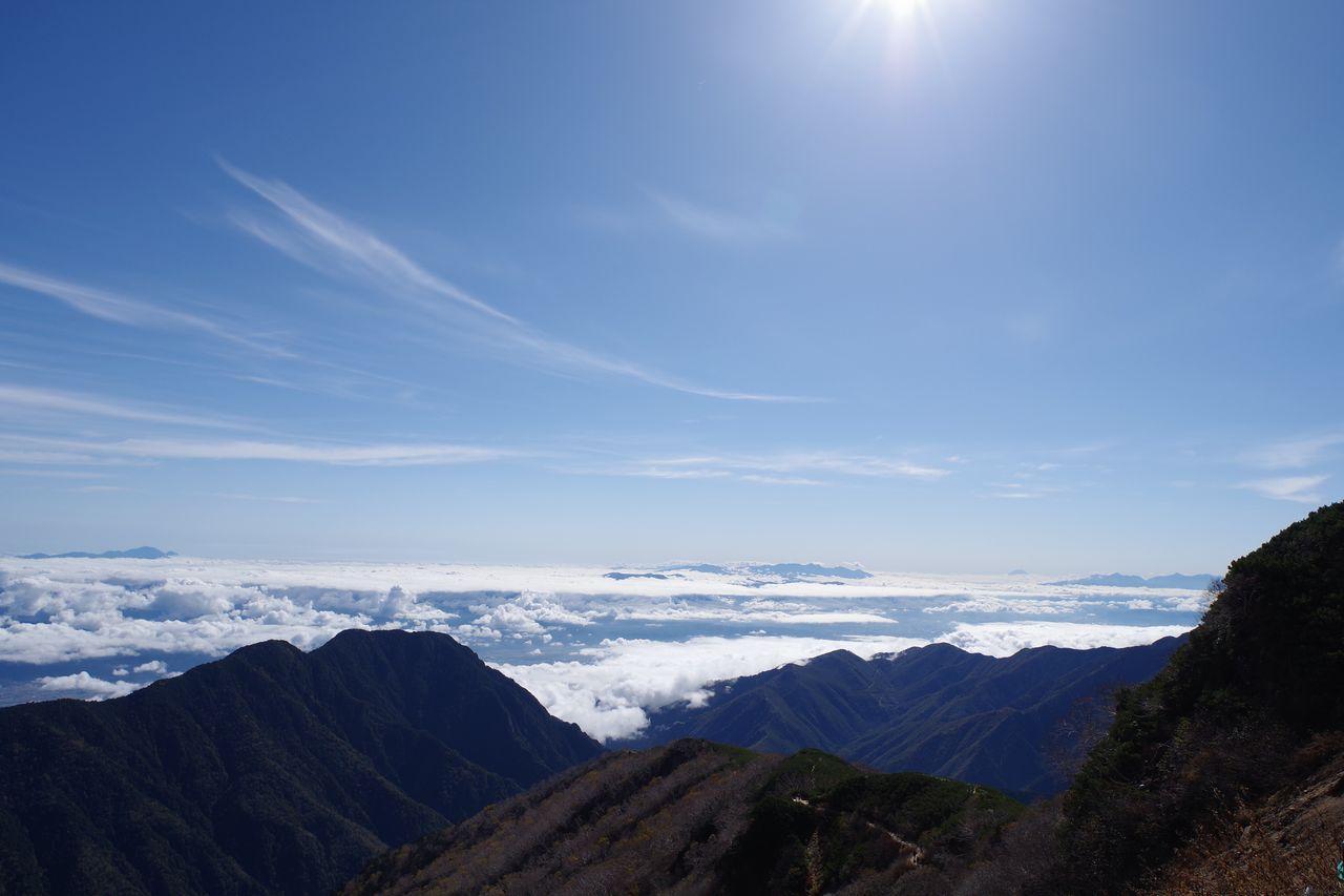 燕山荘から見た松本盆地