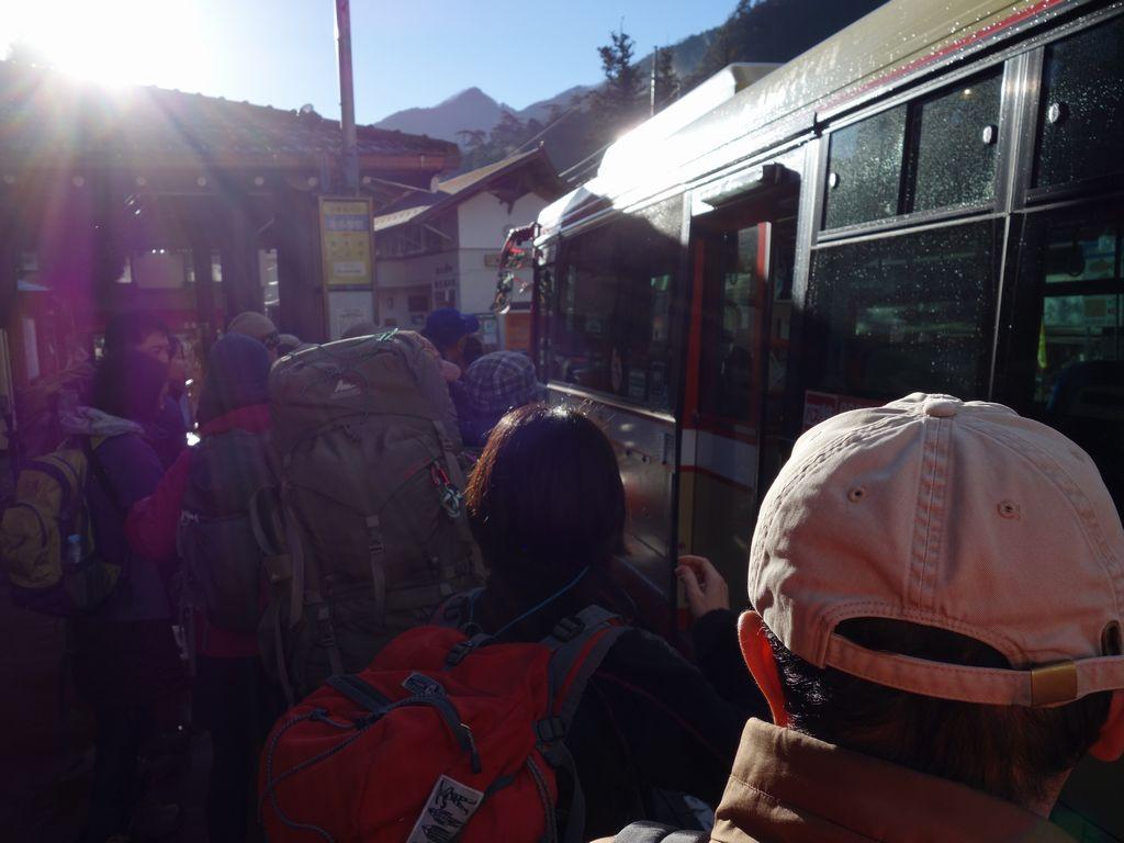 東日原行きのバス