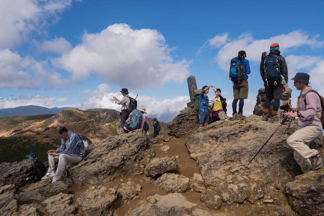 安達太良山 山頂の様子