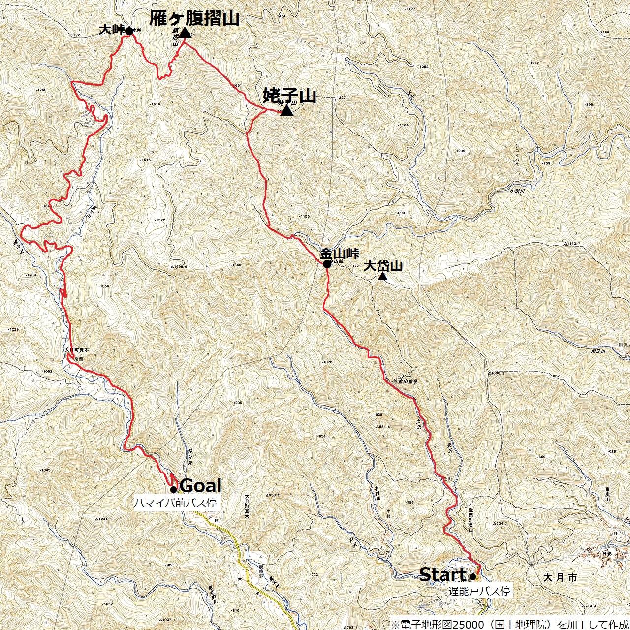 171125雁ヶ腹擦山_map