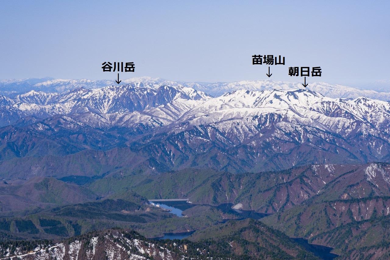 至仏山から見た谷川連峰