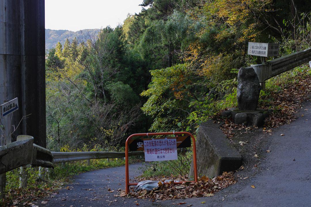 武甲山 橋立から駅へ向かう道