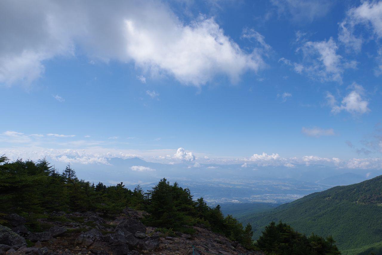 黒斑山表コースから見た八ヶ岳
