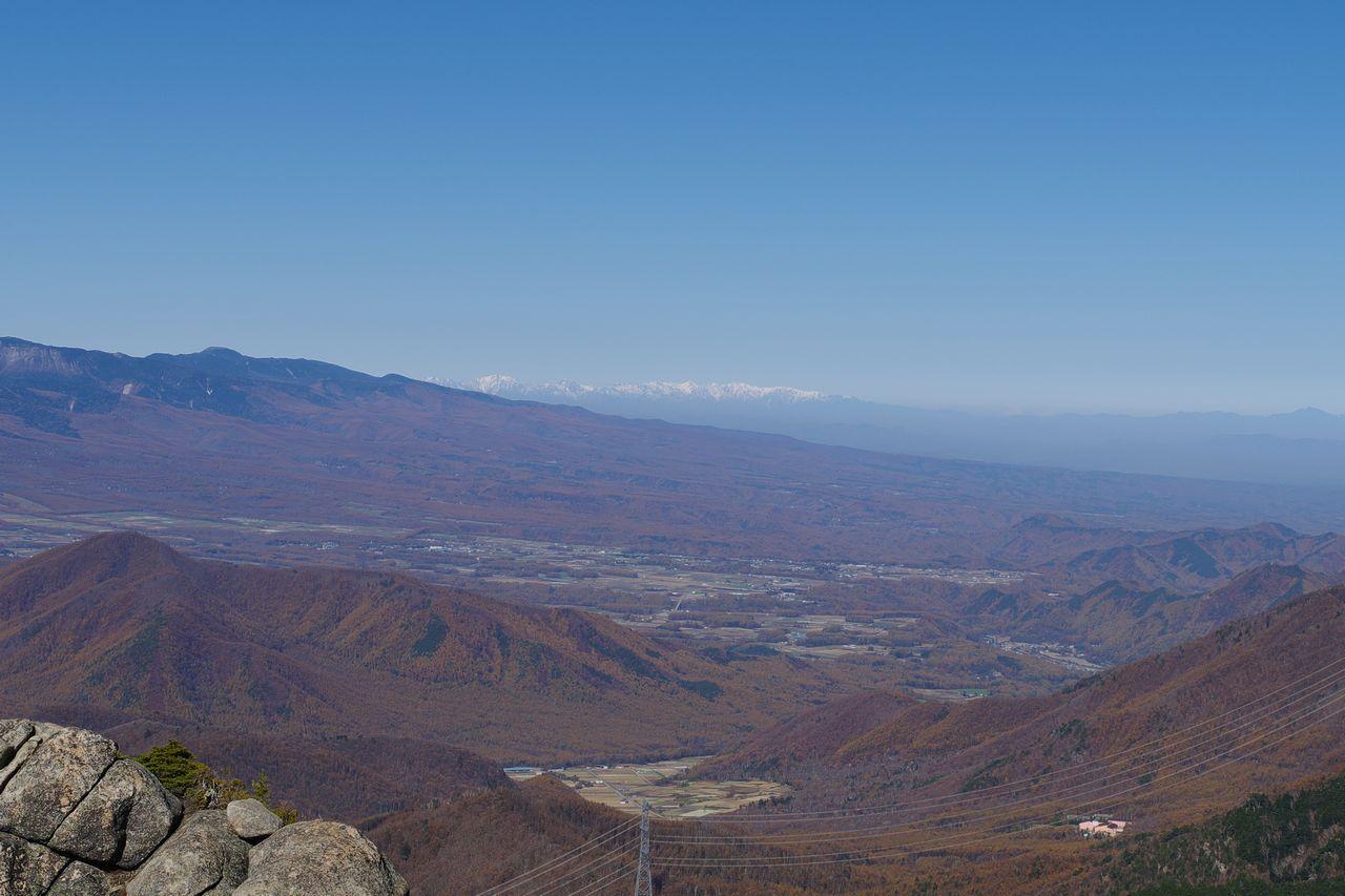 瑞牆山から見た北アルプス