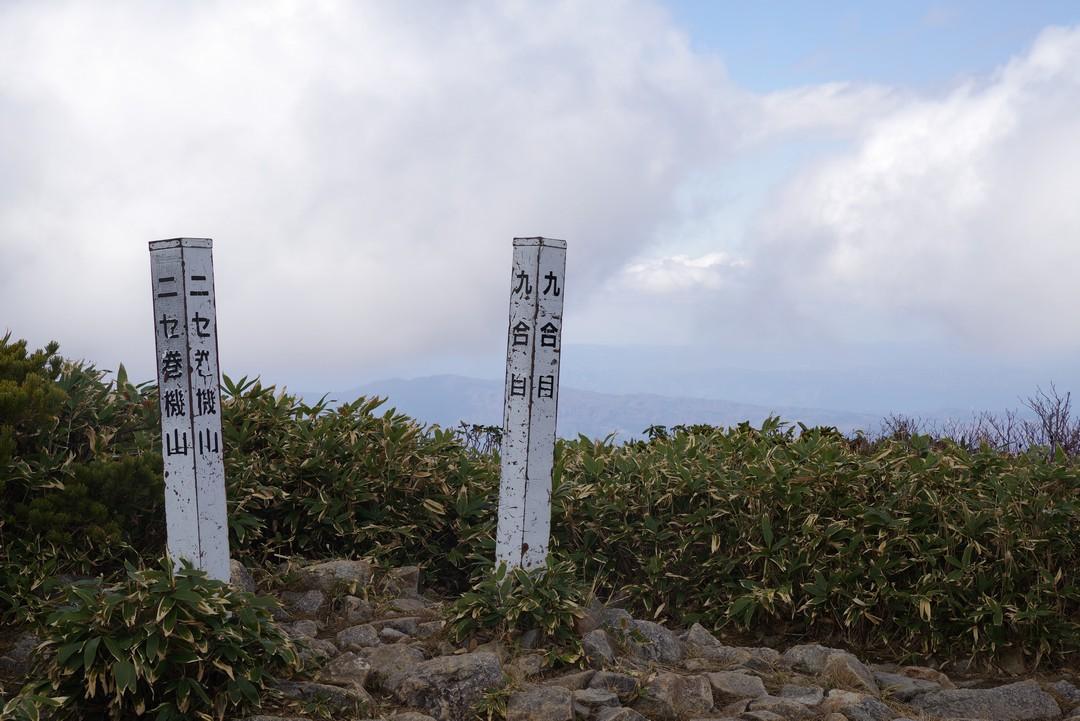 ニセ巻機山の山頂標識