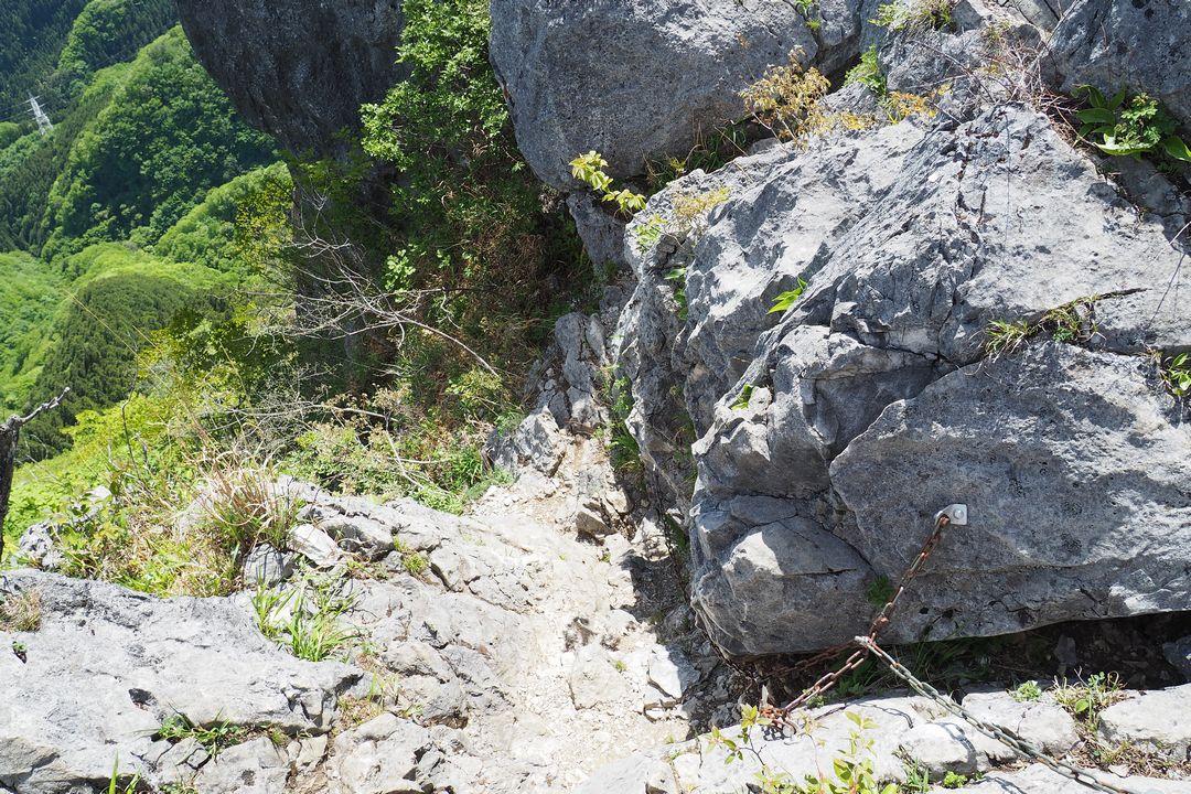 二子山 西岳の稜線