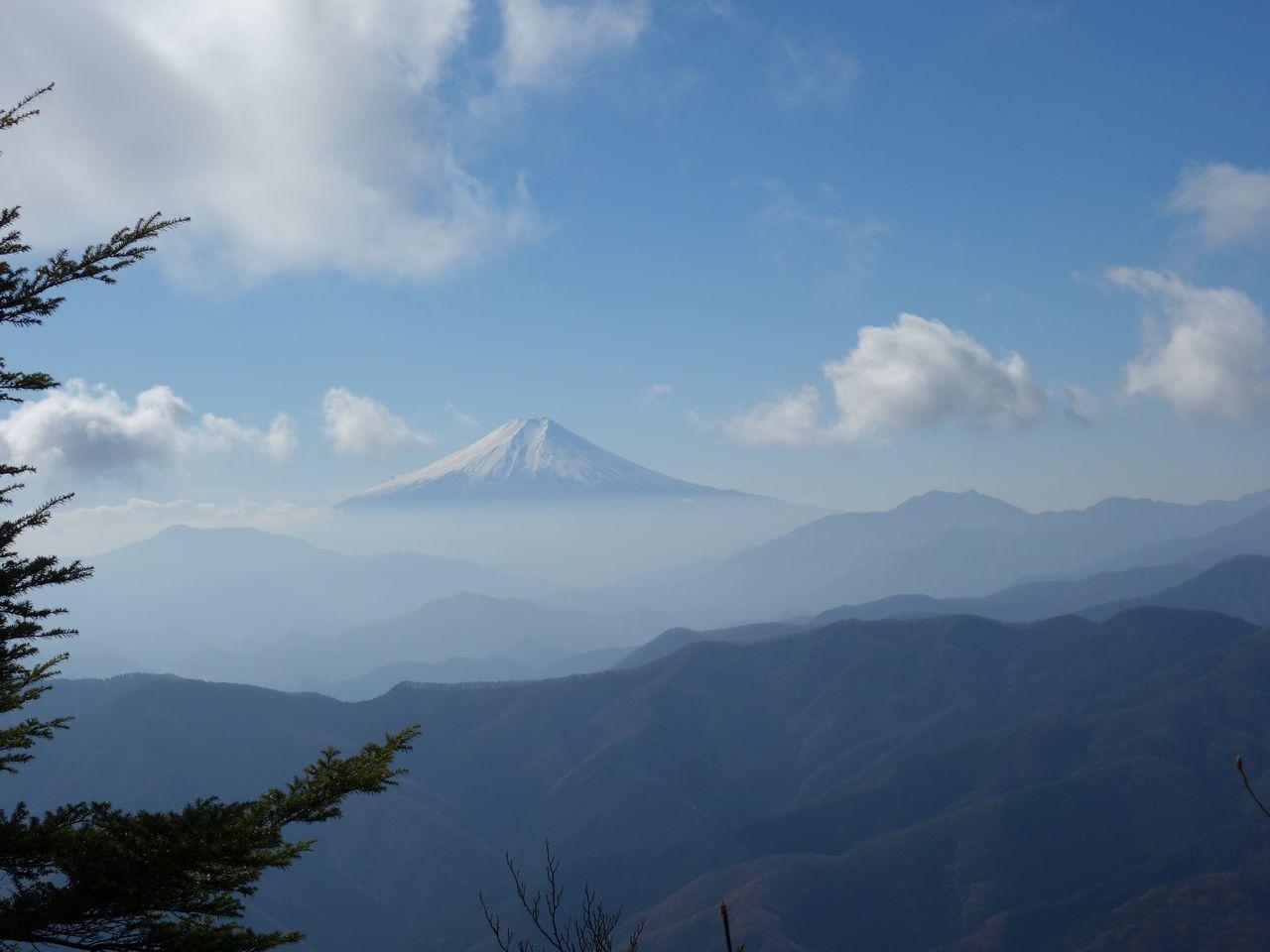 三頭山 鶴峠コースから見た富士山