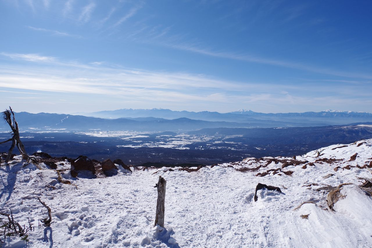 茶臼山の展望台