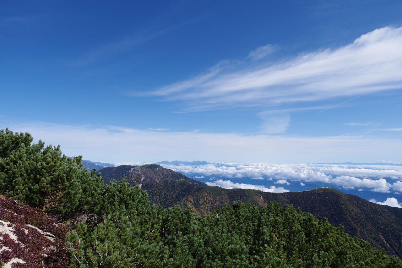 燕岳から見た北西方向の展望