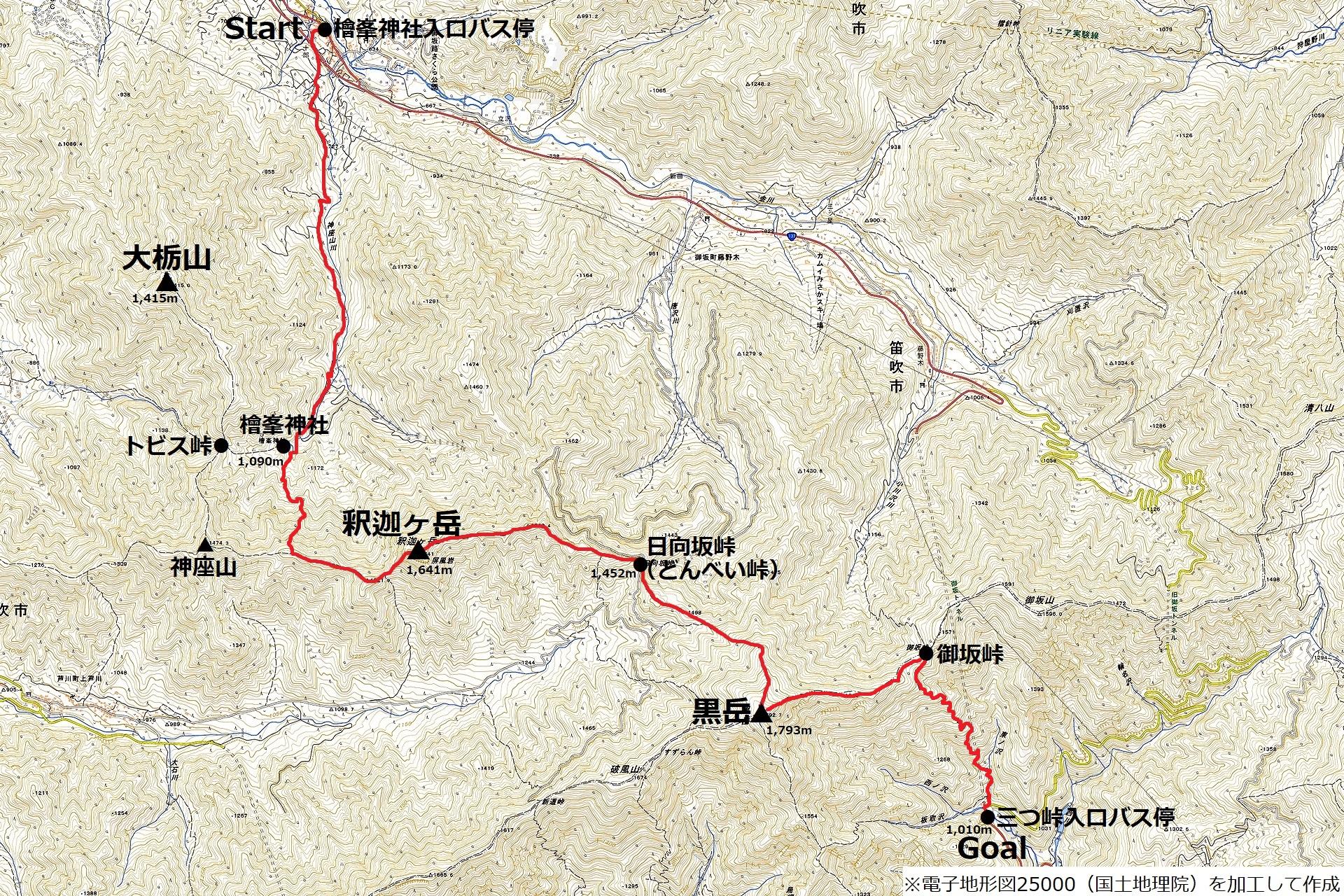 170325釈迦ヶ岳_map1