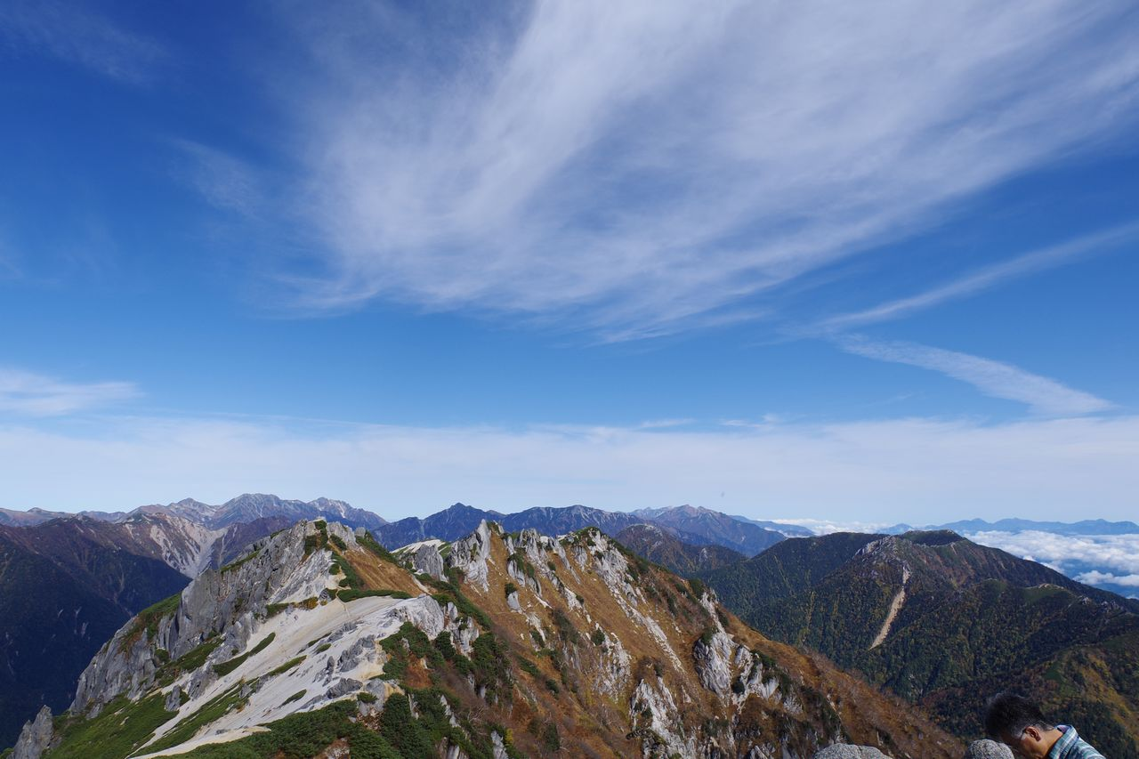 燕岳から見た北側の展望