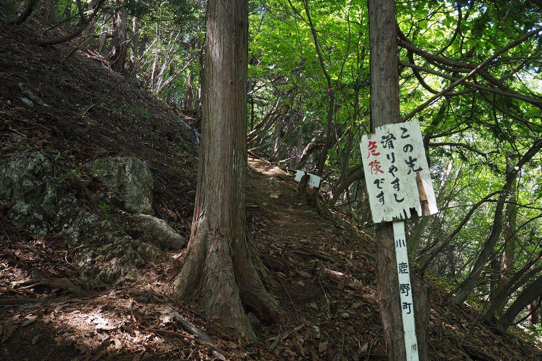 二子山 股峠から見た西岳方面の登山道