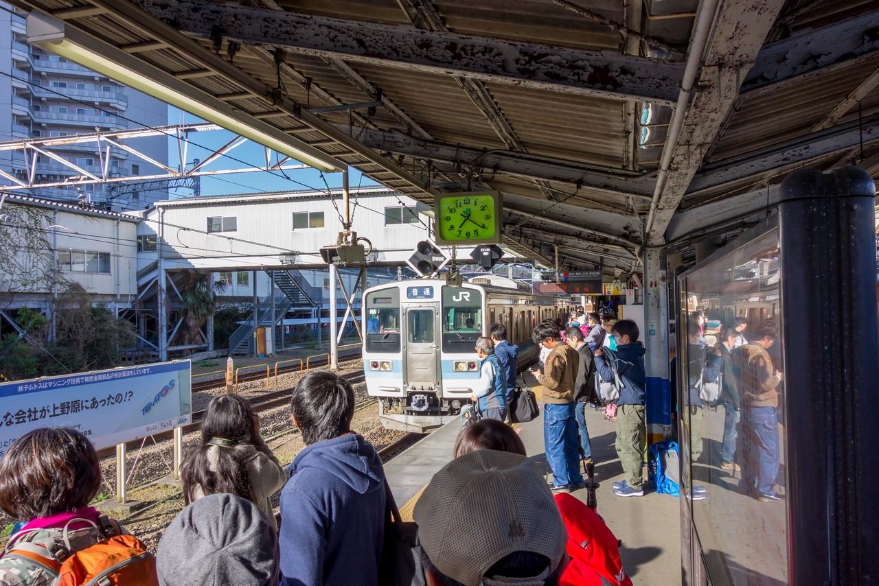 JR高尾駅のホーム